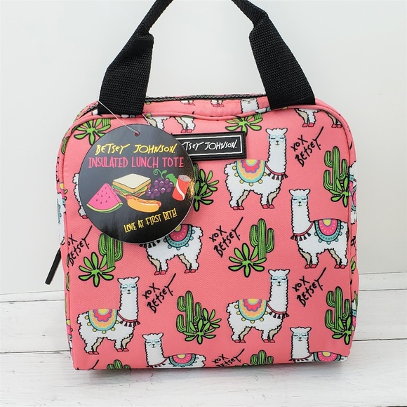 Betsey Johnson Handbags - Betsey Johnson Llama Lunch Bag Insulated Tote